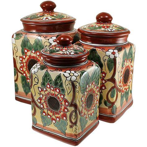 pottery canisters kitchen talavera kitchen canisters collection talavera kitchen