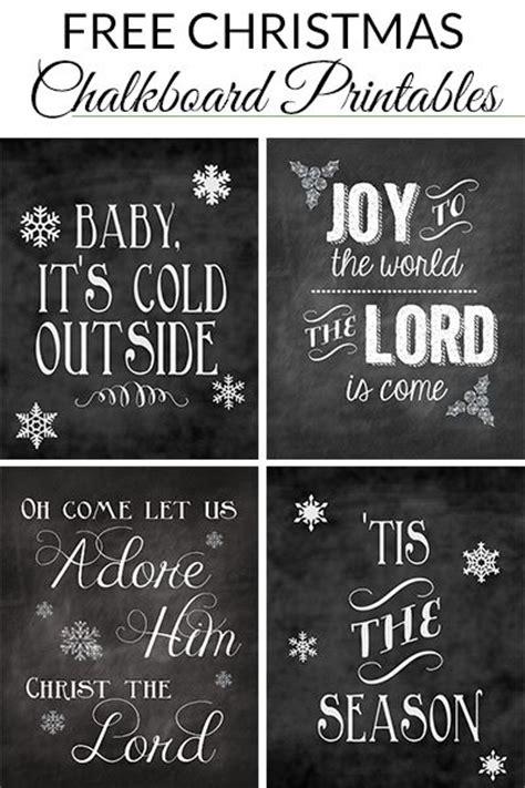 christmas chalkboard printables roundup christmas sayings  christmas  lyrics