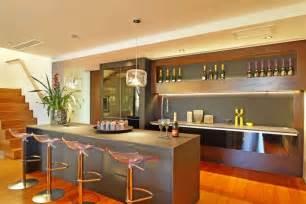 Open Kitchen Bar Design by Open Kitchen Bar Space Interior Design Ideas