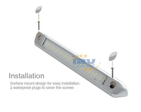 rv awning led light installation 9 84 quot silver 12v dc waterproof led awning light for rv