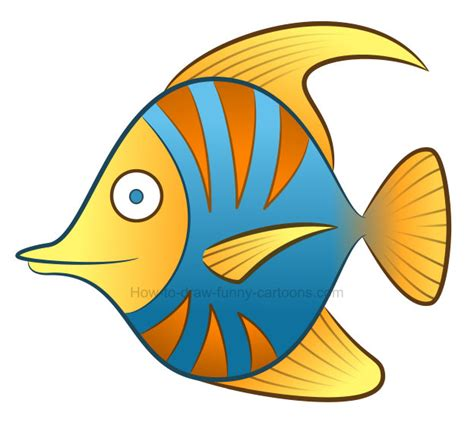 drawing clipart how to draw a tropical fish clipart