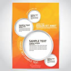 templates for flyers and brochures free flyer template free vector in adobe illustrator ai ai