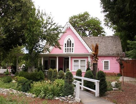 pink house funky exterior color combinations