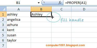cara membuat huruf kapital di excell cara merubah huruf menjadi huruf kapital atau kecil di
