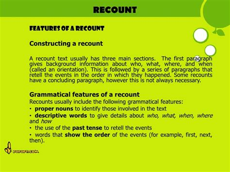 exles of biography recount text full types of text