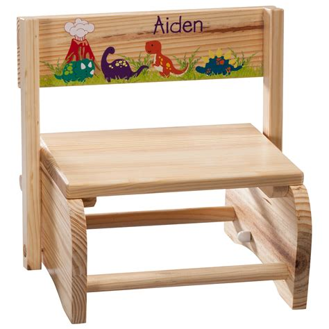 Personalized Step Stool Chair by Personalized Children S Dinosaur Chair Step Stool
