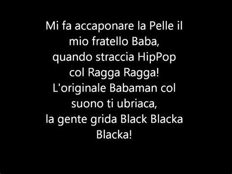 babaman testo babaman black blacka blacka testo lyrics