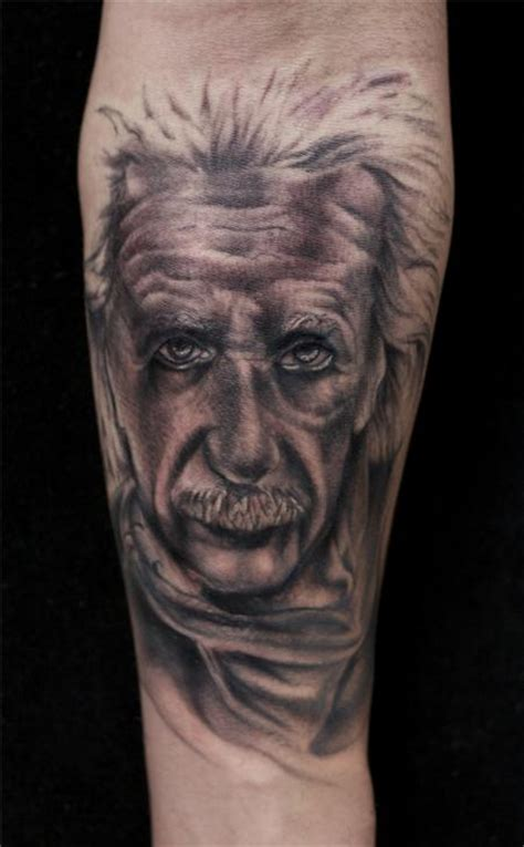 albert einstein tattoo junkies studio tattoos mullins black