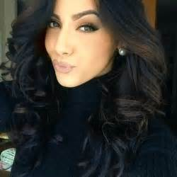 black is the color of my true hair the color of hair and curls make up is done