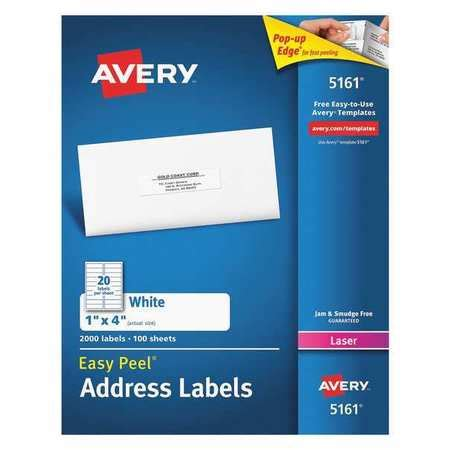 Avery Avery 174 Easy Peel 174 Address Labels For Laser Printers Avery 1 X 4 Label Template