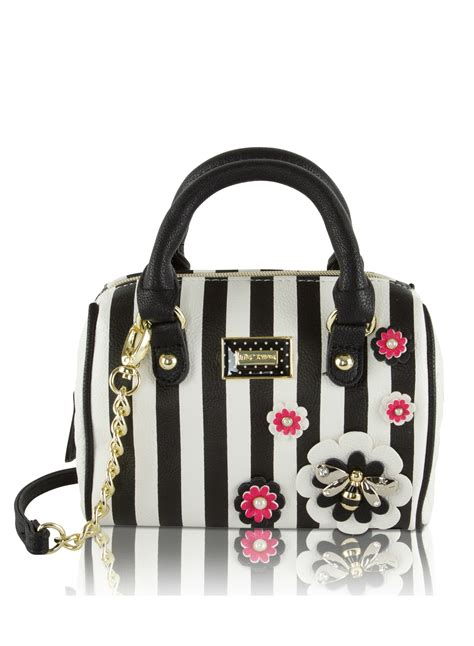 Stud Style Bag 7 betsey johnson mini barrel purse crossbody satchel bag stripes stud flower bows ebay