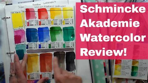 schmincke watercolor schmincke akademie watercolor review youtube