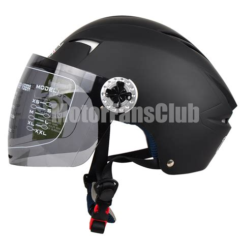 Abs Half Shield Helmet Hitam matte black motorcycle open half summer helmet