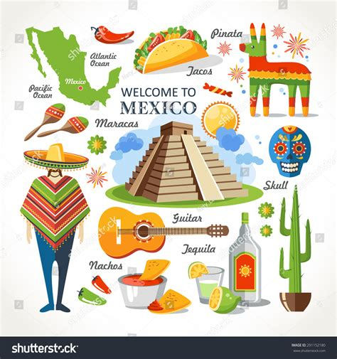 Address Finder Mexico Welcome To Mexico Set Stock Vector Illustration 291152180