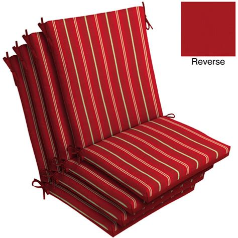 mainstays dining chair outdoor cushion stripe set of