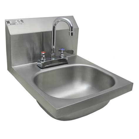 stainless steel sink wall mount stainless steel wall mount sink w no lead faucet and