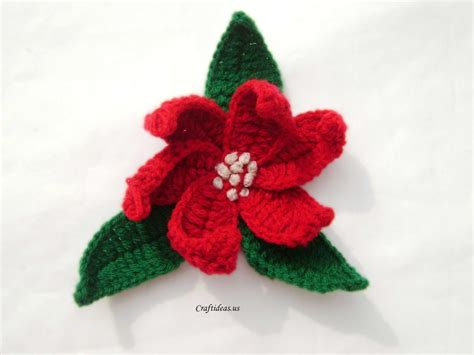 christmas craft ideas crochet poinsettias craft ideas