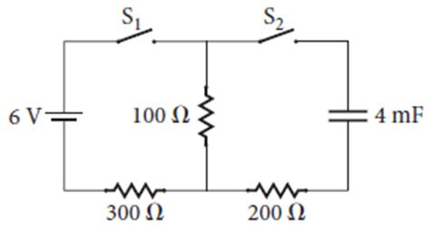 r resistor capacitor q the circuit in the figure has a capacitor connecte chegg