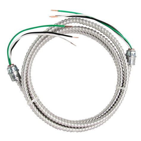 10 2 stranded mc cable southwire 12 2 x 15 ft stranded cu mc metal clad