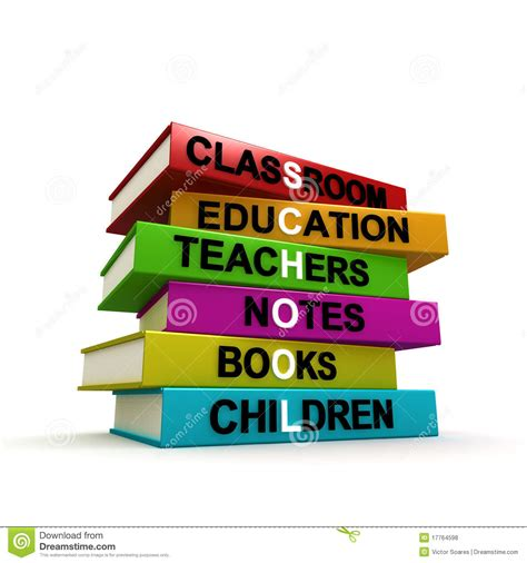 of school picture books pile of colored school books royalty free stock photos
