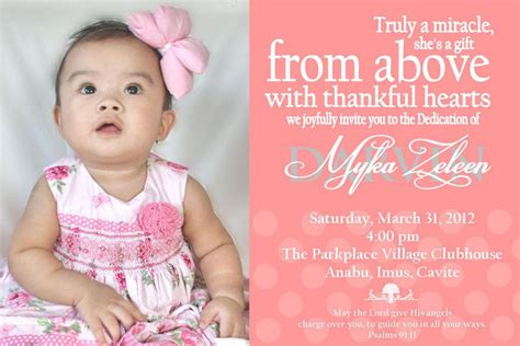 Child Dedication Invitation Card Template by Baby S Dedication Invitation Diy Invitations