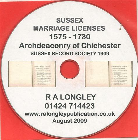 Norfolk Marriage License Records Hastings Cemetery Records Reg 16 20 1917 1933 Cd R A Longley Publications