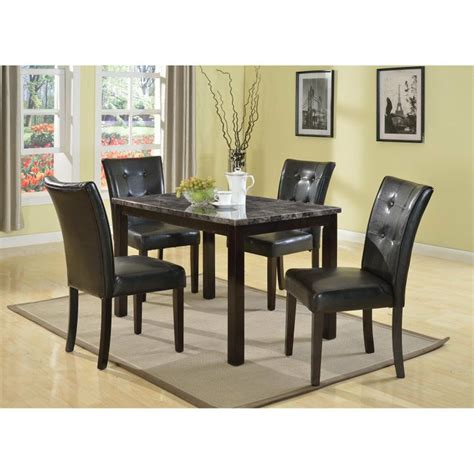 Harden Dining Room Furniture by Praia 5pc Articifial Marble Top Dining Set Dining Table 4