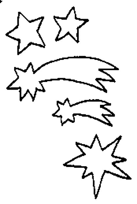 coloring page of a shooting star shooting star coloring page cliparts co