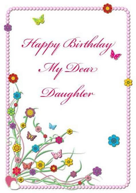 free printable christmas cards daughter 28 best printable birthday cards for family images on