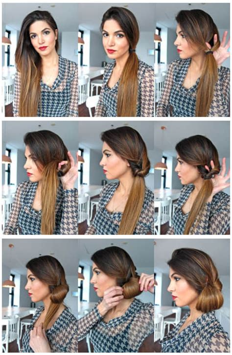 1950 hairstyles for long hair step by step deceptive bun hairstyles 10 easier than they look buns
