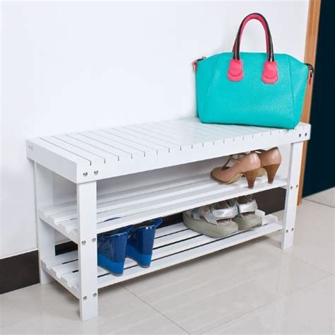 seat and shoe storage sobuy 100 bamboo shoe rack bench seat with