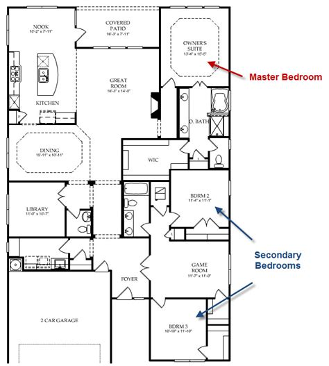 Split Floor Plan Homes | 3 bedroom 2 bath split floor plan ranch house plan