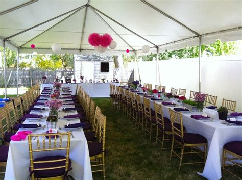 tent for backyard party backyard party tent outdoor furniture design and ideas