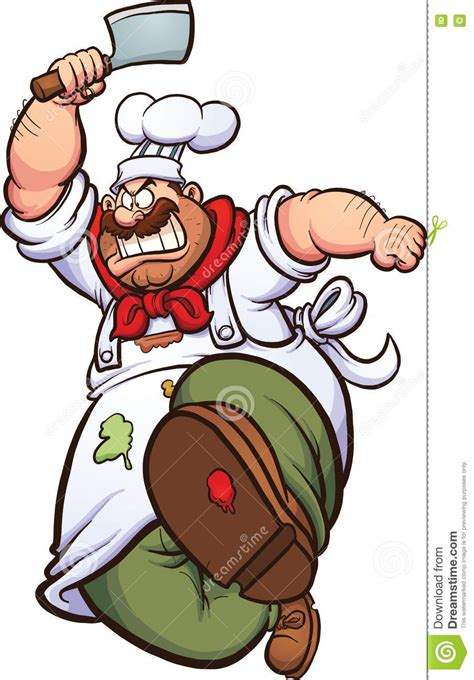 clipart cuoco angry chef stock vector illustration of single chef