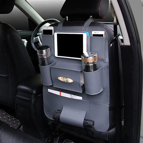 Car Organizer Car Seat Organizer Bag A287 Berkualitas car back seat multi pocket phone cup holder pu leather