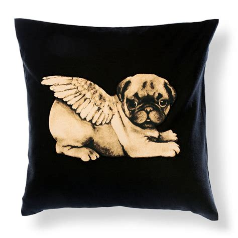 pug cushion covers biddy pug cushion cover square by pugs might fly notonthehighstreet