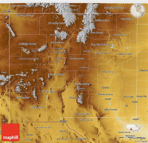 physical map of new mexico physical 3d map of new mexico