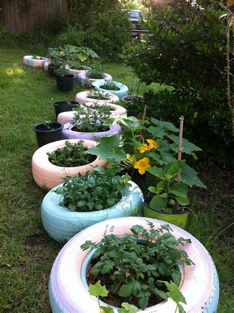 Tire Garden by Tire Planters Tire