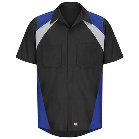 Red Kap Tri Color Short Sleeve Shop Shirt   SY28