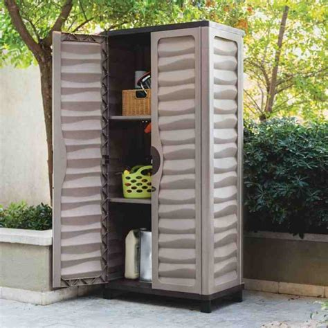 Plastic Outdoor Storage Cabinet Outdoor Plastic Storage Cabinets Home Furniture Design