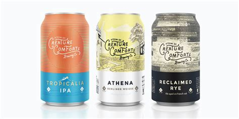 creature comforts brewery 67 exles of awesome craft beer packaging the dieline