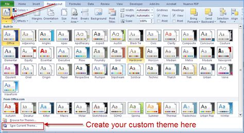 excel edit themes excel 2010 styles and themes online pc learning