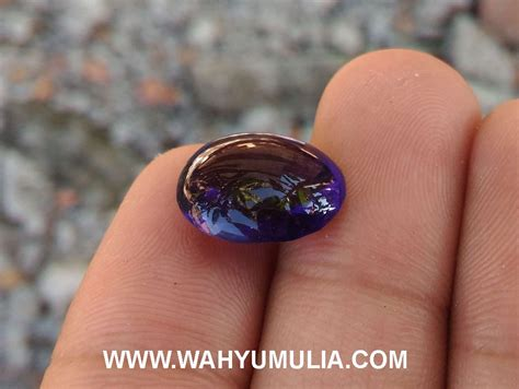 Batu Akik Obsidian Hijau Mahkota batu obsidian ungu bening kode 419 wahyu mulia