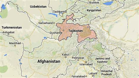 where is tajikistan on a map officers from tajikistan visit socal for