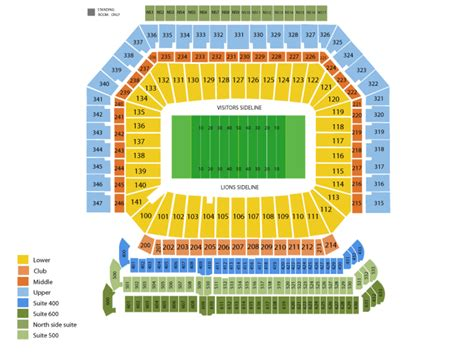 what are club seats at ford field ford field seating chart and tickets