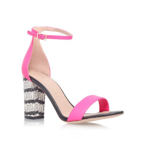 pink mid heel sandals pink mid heel sandals by kurt geiger