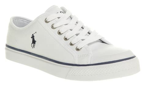white shoe mens ralph chancery white shoe trainers shoes ebay