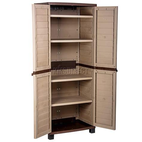 outdoor storage cabinet with shelves starplast outdoor plastic garden utility cabinet with 4 shelves storage garage ebay