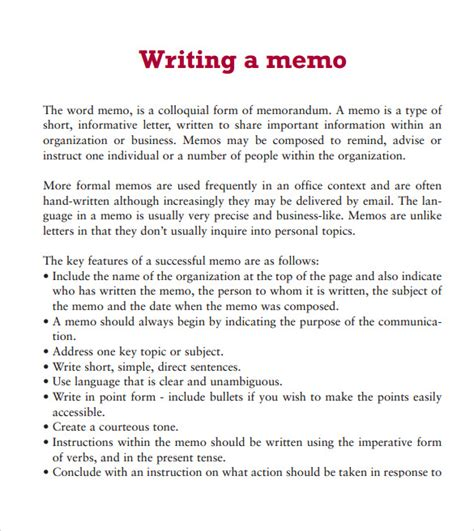 word memo template 6 documents in pdf sle