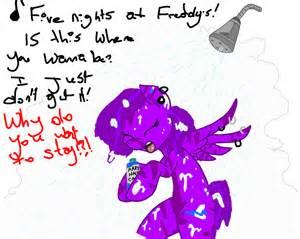 Purple streak sings fnaf in the shower by skylighttwilight on